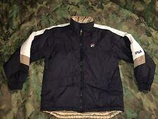 Fila Jacket Reversible Med Black White Gold Vintage