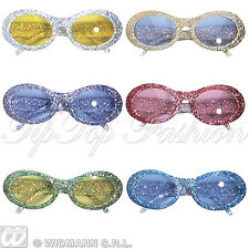 New Assorted Glitter Fashion Glasses for Disco 70s Fancy Dress Accessory