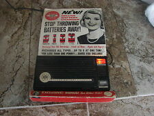 Vtg FEDTRO NEW DELUX BATTERY CHARGER - ORIG 2 sided PACKAGING