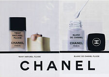 PUBLICITE ADVERTISING 094 1989 CHANEL Teint Naturel Fluide  (2 pages)