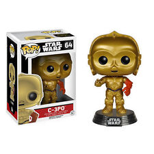 "STAR WARS THE FORCE AWAKENS C-3P0 3.75"" VINYL POP FIGURE FUNKO BOBBLE-HEAD"