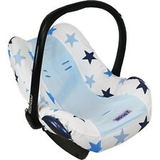 Dooky Car Seat Summer Cotton Cover Blue Stars fits Maxi Cosi Cabriofix/Pebble