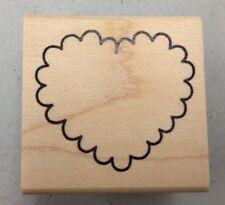 DENAMI DESIGN Rubber Stamps Small Scallop Heart