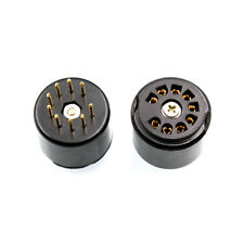 9pin bakelite tube socket testing saver for 12AX7 ECC83 5670 6DJ8 gold plated x2