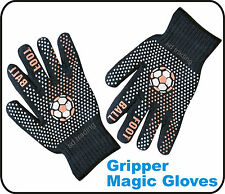 12 Pair Foot Ball Gripper Black Magic Gloves Winter Unisex one size Wholesale