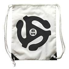 backpack 45 giri RPM, with drawing Centrino disk vinyl, Record player Music