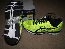 NIB Men's ASICS size 8.5 M Running shoes T547N Gel-Kayano 22 flash yellow/black/