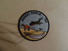 US MILITARY PATCH OLDER SEW ON US AIR FORCE DESERT SHIELD 1990 CAMEL AIRPLANE 4I