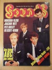 SOUNDS 9/1982 ABC Talking Heads Monsoon Yazoo Joachim Witt Pete Shelley Heron