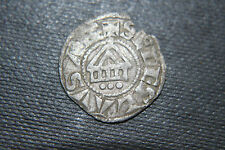 SILVER DENIER BISHOP of LAUSANNE COIN 12/13th  KNIGHTS CRUSADER CROSS