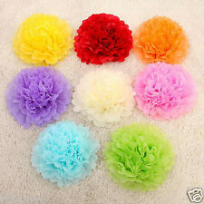 6PCs Tissue Paper Pompoms Hanging Pom Poms Balls Wedding Party Decoration 8""