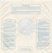 """Vintage INNER SLEEVE or SLEEVES 12"""" IMPORTANT! THE RECORD EQUIPMENT lines v3 x 3"""