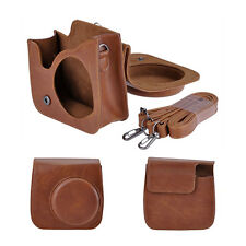 PU Leather Brown Camera Shoulder Bag Cover Case for Fuji Instax Mini 8 Polaroid