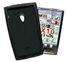Silikon TPU Handy Cover Case Hülle Kappe in Schwarz für Sony Ericsson Xperia X10