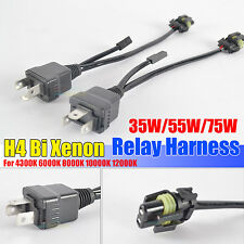 2pcs 55W HID H4 Bi Xenon HI/Lo Conversion Xenon Headlight Kit Relay Harness