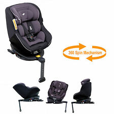 JOIE SPIN 360 GROUP 0+/1 ISOFIX CAR SEAT FROM BIRTH TWO TONE BLACK