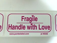 FRAGILE Handle with LOVE Labels/Stickers 100 2x4 EBAY Shipping Labels Ebay