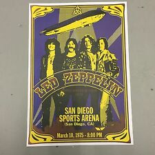 LED ZEPPELIN - CONCERT POSTER SAN DIEGO 10th MARCH 1975 (A3 SIZE)
