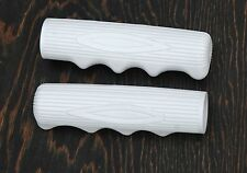 White Vintage Schwinn Stingray Type Bike Grips Lowrider Muscle Bicycle Cruiser