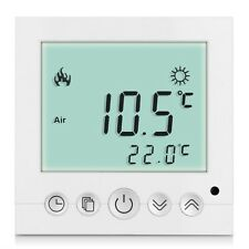 LCD Digital Heating Thermostat Room Temperature White Backlit Controller IM