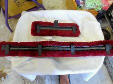 Mini Horse Fleece Harness Saddle & Breast Collar Pads Set Amish Made Burgundy