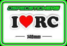 STICKER I LOVE RC REMOTE CONTROL PLANE HELI CAR BUGGY NITRO ELECTRIC DRONE