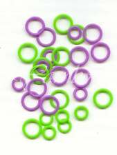 Clover ::Soft Stitch Ring Markers:: 20 large and 10 small