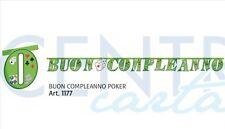 FESTONE IN CARTA BUON COMPLEANNO POKERCM.330X23 PARTY