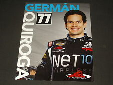 2013 GERMAN QUIROGA #77 NET 10 WIRELESS NASCAR POSTCARD