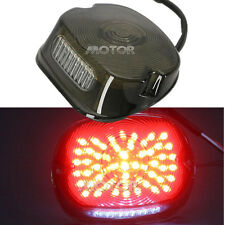 Smoke LED Tail Light For Harley Sportster Dyna Electra Glide Road King Low Rider