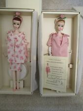 LUNCHEON ENSEMBLE SILKSTONE BARBIES - Blonde & Redhead NRFB SIGNED BY BEST