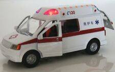 1:40 Pull Back 120 Ambulance Diecast Alloy Car Vehicles Model Sound&Light White