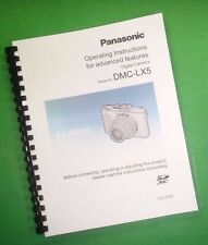 COLOR PRINTED Panasonic Lumix Advanced DMC-LX5 Manual User Guide 236 Pages
