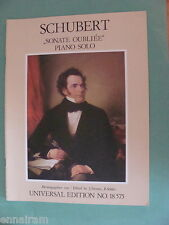 Franz Schubert Sonate Oubliee in C Major piano solo 1988 ed. Demus & Solder