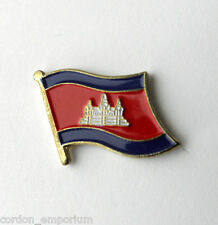 CAMBODIA NATIONAL COUNTRY WORLD FLAG LAPEL PIN BADGE 1 INCH