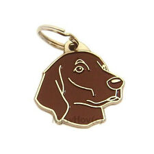 Personalised, Stainless Steel, Breed Pet Tag MjavHo, FLAT COATED RETRIEVER brown