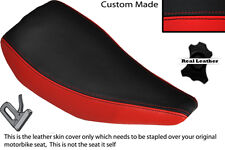 RED & BLACK CUSTOM FITS HONDA TLR 200 TRIAL BIKE SINGLE LEATHER SEAT COVER