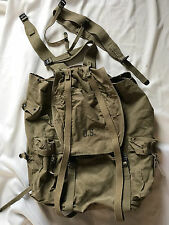 1942 VINTAGE WWII FIELD PACK CANVAS MILITARY BACKPACK BAG