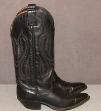 NOCONA Black Leather Cowboy Boots Women's Size 6 C EUC Made in USA