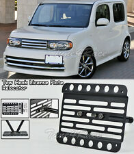 For 09-Up Nissan Cube Front Bumper Tow Hook License Plate Bracket Relocator