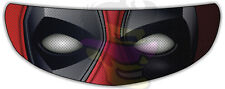 Deadpool Helmet Visor Sticker Motorcycle Superhero Shield Decal Tint Eyes NEW