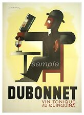 VINTAGE DUBONNET WINE FRENCH ADVERTISING A4 POSTER PRINT