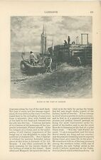 1885 Labrador Region of Canada History Fishing Boats Salmon Cod Fishermen