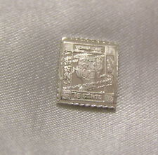 SOLID SILVER STAMP HONG KONG 1879 1879-1880 TEN-CENT-ON-SIXTEEN-CENT