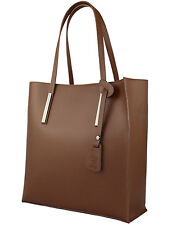 Giglio Large Elegant Italian Leather With Suede Tote Shopper Shoulder Handbag