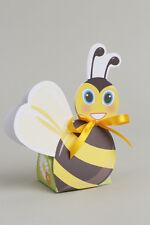 Lot de 10 boites à dragées ballotin abeille+ruban mariage baptême communion