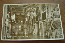 Postcard The Guard Chamber Windsor Castle London 1934 Posted
