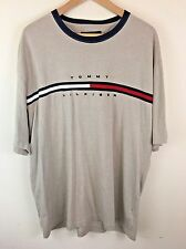 Tommy Hilfiger Men's T-Shirt Size XXL 2XL Spelled Out Vintage 90s Look Beige