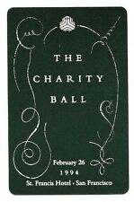 1994 Boxed Playing Cards ~ ST. FRANCIS HOTEL, SAN FRANCISCO, CHARITY BALL