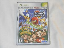 NEW Sonic Heroes / Super Monkey Ball Deluxe XBox Combo Pack Game SEALED Rare US